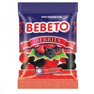 Bonbons Berries - Baies Framboise et Mûre - Fabriqué avec du Vrai Jus de Fruit Bebeto - Halal - Sachet 80gr - e-maktaba.fr