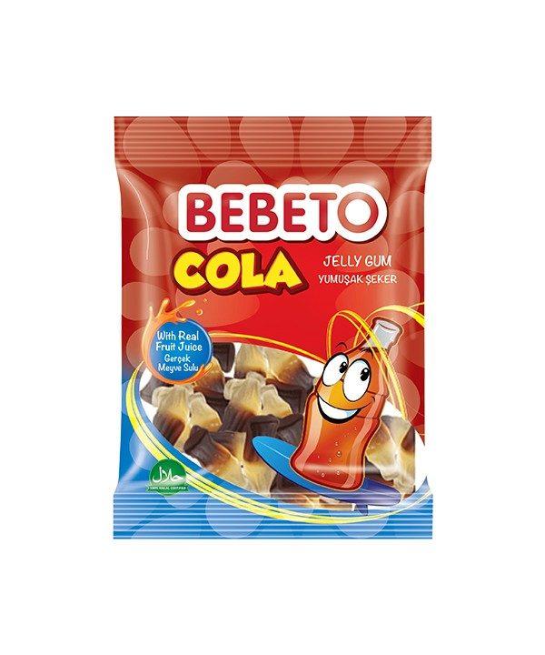 Bonbons Cola - Fabriqué avec du Vrai Jus de Fruit - Bebeto - Halal - Sachet 80gr, Bonbon Halal - Produits enfant à E-maktaba