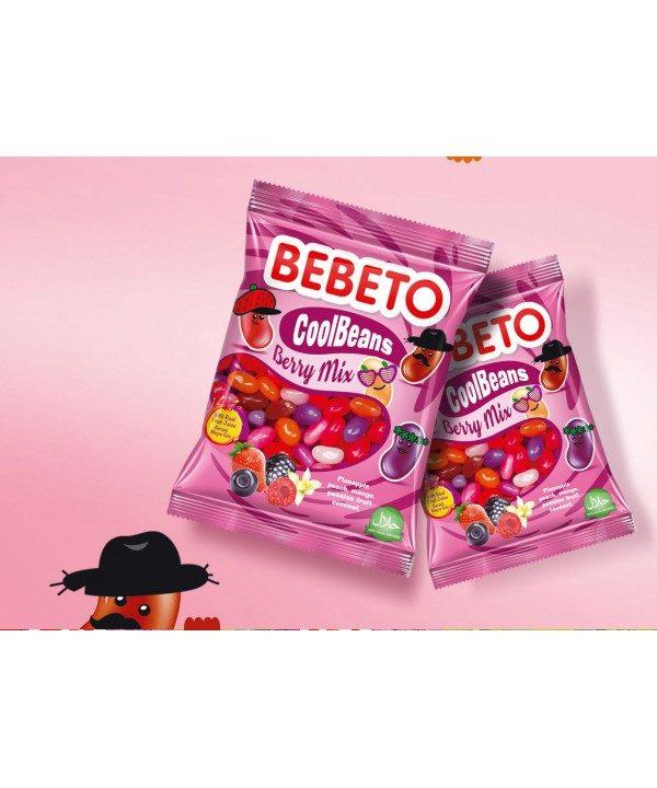 Photo Bonbons Cool Beans – Berry Mix – Fabriqué avec du Vrai Jus de Fruit – Bebeto – Halal – Sachet 60gr - Bebeto