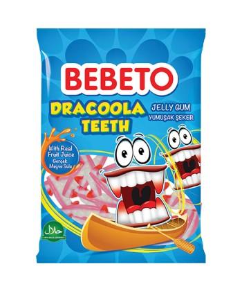 Bonbons Dracoola Teeth - Fabriqué avec du Vrai Jus de Fruit - Bebeto - Halal - Sachet 80gr, e-maktaba.fr