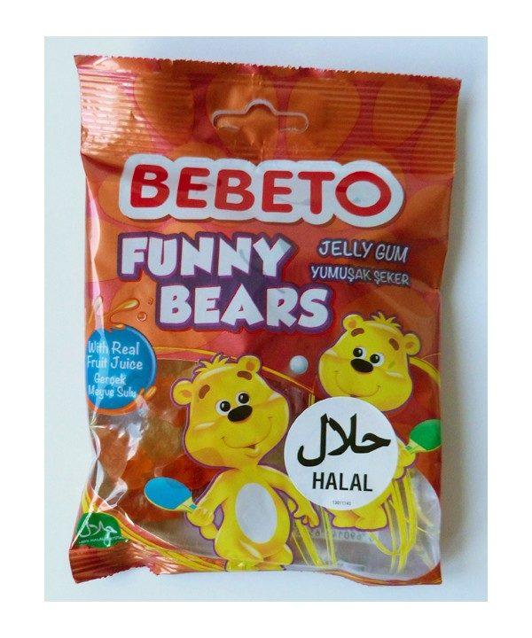 Bonbons Funny Bears - Fabriqué avec du Vrai Jus de Fruit - Bebeto - Halal - Sachet 80gr, Bonbon Halal - Produits enfant à E-maktaba