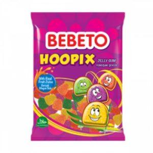 Bonbons Hoopix - Fabriqué avec du Vrai Jus de Fruit - Bebeto - Halal - Sachet 80gr
