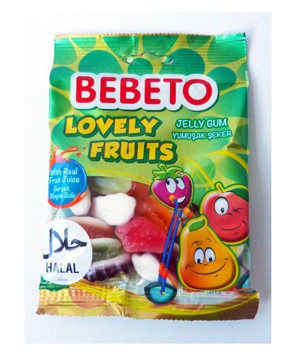 Photo Bonbons Lovely Fruits – Fabriqué avec du Vrai Jus de Fruit – Bebeto – Halal – Sachet 80gr - Bebeto