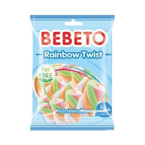 Bonbons Marshmallow - Rainbaw Twist - Sans Gras - Bebeto - Halal - Sachet 60gr, e-maktaba Boutique En Ligne