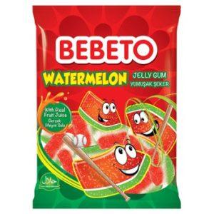 Bonbons Watermelon - Goût Pastèque - Fabriqué avec du Vrai Jus de Fruit - Bebeto - Halal - Sachet 80gr, Bonbon halal chez e-maktaba.fr