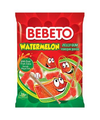 Photo Bonbons Watermelon – Goût Pastèque – Fabriqué avec du Vrai Jus de Fruit – Bebeto – Halal – Sachet 80gr - Bebeto