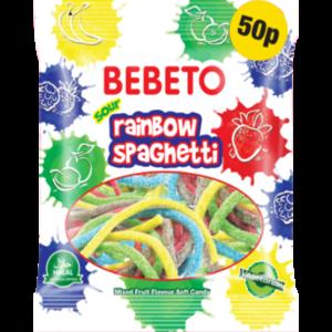 Rainbow Spaghetti - Bebeto - Halal - Sachet 80gr, bonbon halal E-maktaba.fr