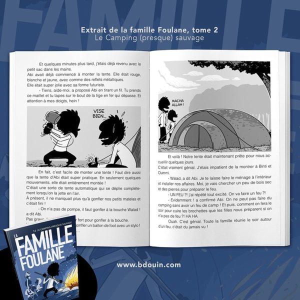 Photo Famille Foulane 2 – Camping (presque) sauvage - Bdouin
