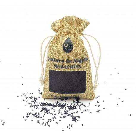"""E-maktaba.fr - Graines de Nigelle """"Habachia"""" (Ethiopie) Grade A pureté 99% certifiée - 100g - Wadi Shibam"""