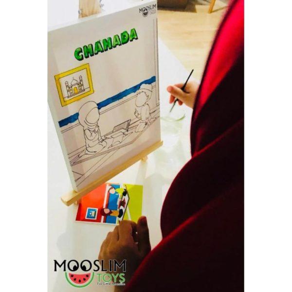 Photo Kit Toile à Peindre – Chahada – CREATIV' ARKANE – Mooslim Toys - Mooslim Toys