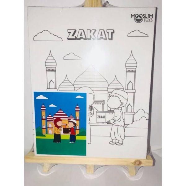 Photo Kit Toile à Peindre – Zakât (Aumône) – CREATIV' ARKANE – Mooslim Toys - Mooslim Toys