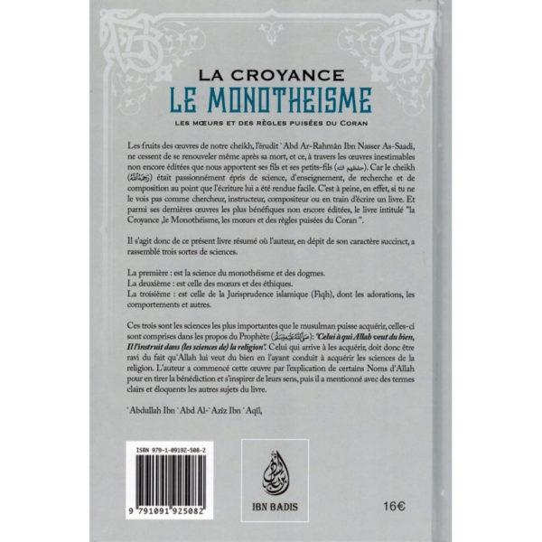 Photo La Croyance, le Monothéisme, les Mœurs et des Règles puisées du Coran (2ème édition) - Ibn badis