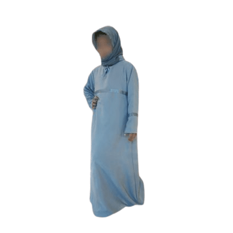 Photo Abaya – safwa – bleu gris - Safwa