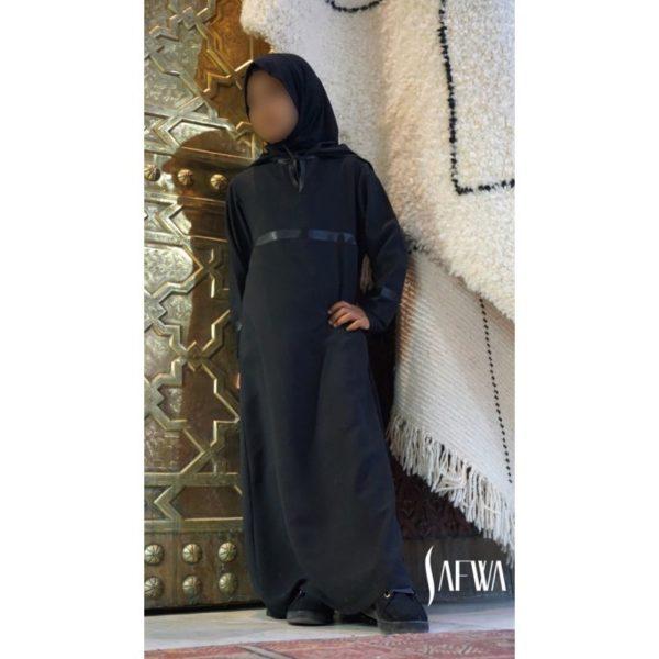 Photo Abaya – safwa – noir - Safwa