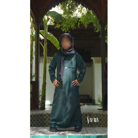 Photo Abaya – safwa – vert canard - Safwa