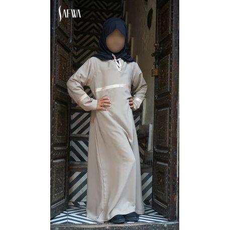 Photo Abaya – safwa – beige - Safwa