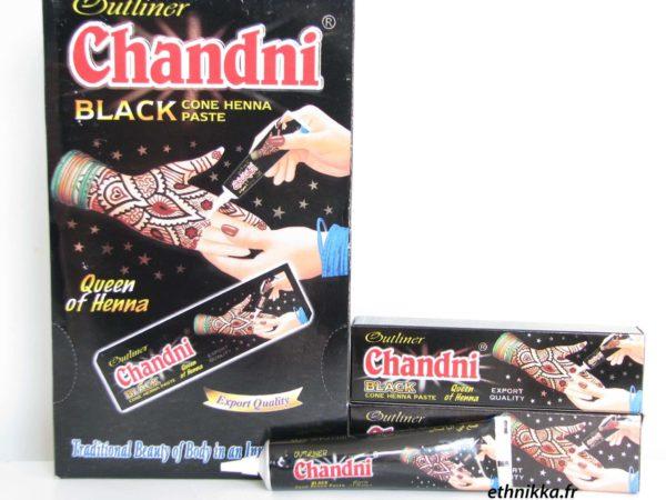 Photo TUBE HENNÉ INDIEN TATOUAGE MAIN CHANDNI – NOIR - Chandni