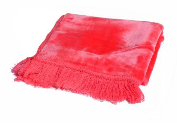 Photo Tapis de prière adulte couleur rose unie sans motifs -