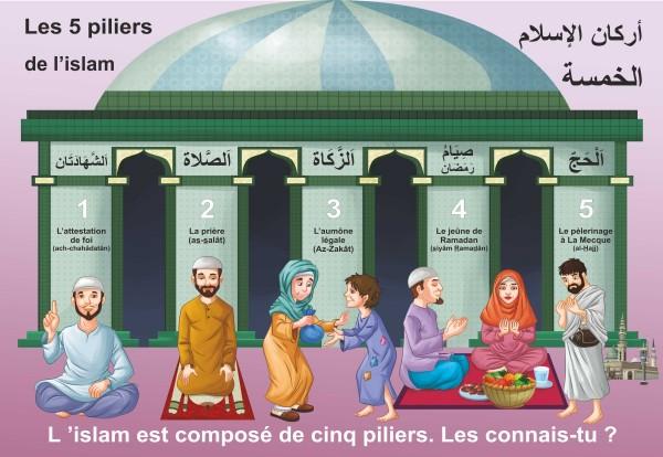 """Photo Grand Puzzle """"Les cinq piliers de l'islam"""" (38 x 26 cm) - Orientica"""