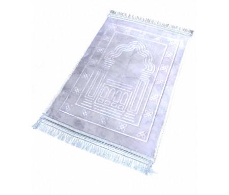 Photo Tapis de luxe épais antidérapant et ultra-doux – Grande taille (80 x 120 cm) avec motifs Arabesque – Gris -