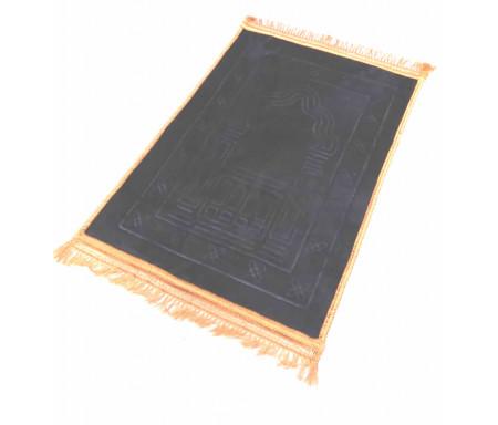 Photo Tapis de luxe épais antidérapant et ultra-doux – Grande taille (80 x 120 cm) avec motifs Arabesque – Noir -