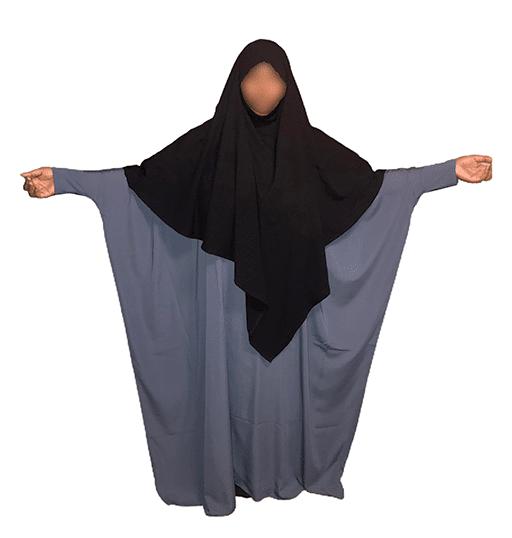 Photo Abaya Oummahat –Kubiya – Bleu ardoise - Oummahat