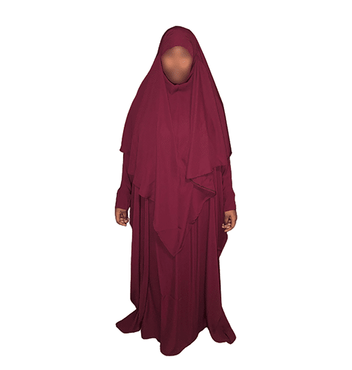 Photo Abaya Oummahat – Kubiya – Grenat - Oummahat