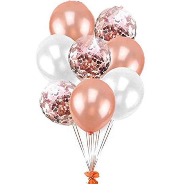 """Photo Pack de Ballons décoration rose Aid Moubarak """"Rose et Blanc"""" -"""